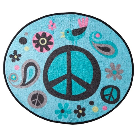 World of Peace Bath Rug