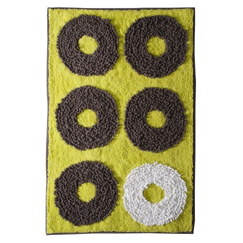 Textured Rings Bath Rug