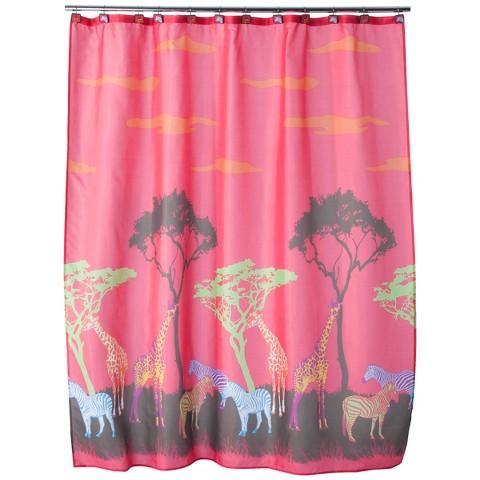 Neon Safari Shower Curtain
