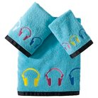 Headphone Girl 3pc Towel Set