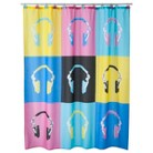 Headphone Girl Shower Curtain