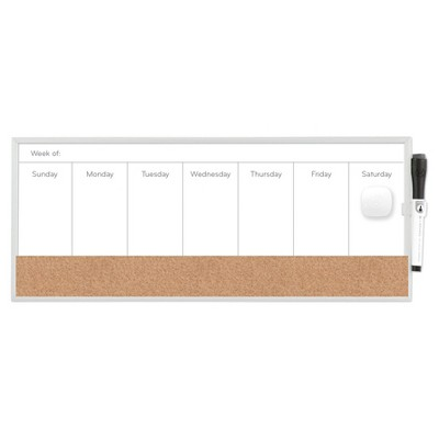 "Ubrands Magnetic Dry Erase Weekly Planner - 7.5"" x 18"""