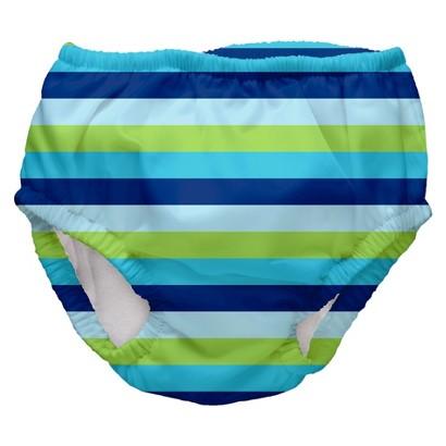 I Play Toddler Boys' Stripe Swim Diaper - Blue
