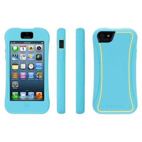 Griffin Survivor Slim Cell Phone Case for iPhone 5/5S - Turquoise (GB36314)