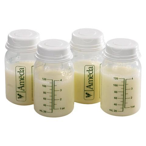 Ameda 4pk Breast Milk Storage Bottle