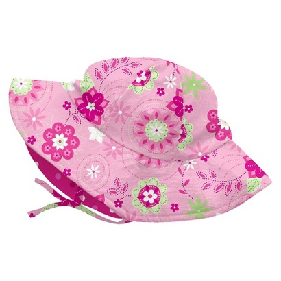 I Play Toddler Girls' Floral Floppy Hat