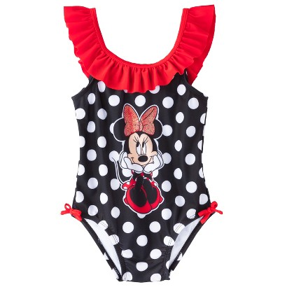 Disney&#174 Toddler Girls' Minnie Mouse One Piece Swimsuit