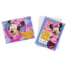 Minnie Mouse Birthday Invitations with Thank You Cards (16 count)
