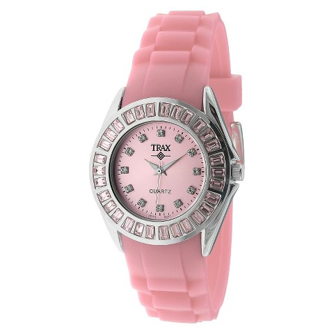 Women's Trax Rox Crystal Pink Dial 35mm Watch - Pink