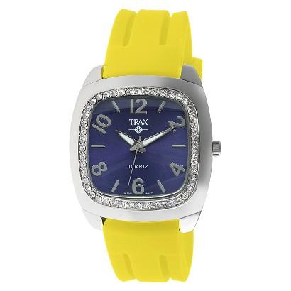 Women's Trax Malibu Crystal Blue Dial 40mm Watch - Yellow