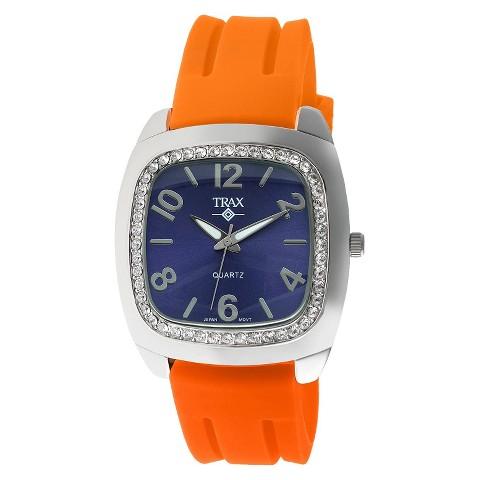 Women's Trax Malibu Crystal Blue Dial 40mm Watch - Orange