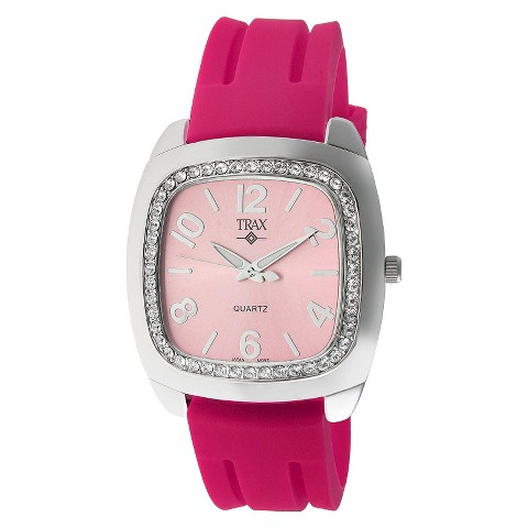 Women's Trax Malibu Crystal Pink Dial 40mm Watch - Pink
