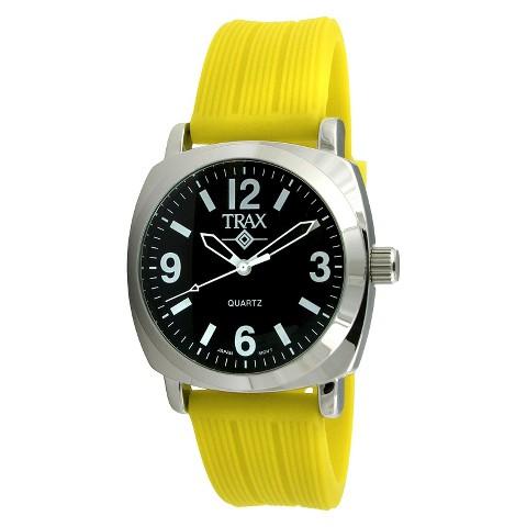 Women's Trax Shelley Black Dial 40mm Watch - Yellow