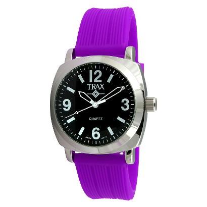 Women's Trax Shelley Black Dial 40mm Watch - Purple