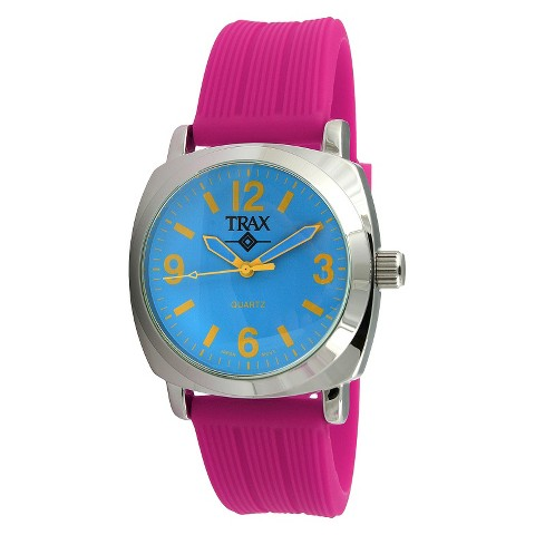 Women's Trax Shelley Blue Dial 40mm Watch - Fuchsia