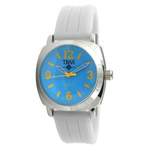 Women's Trax Shelley Blue Dial 40mm Watch - White