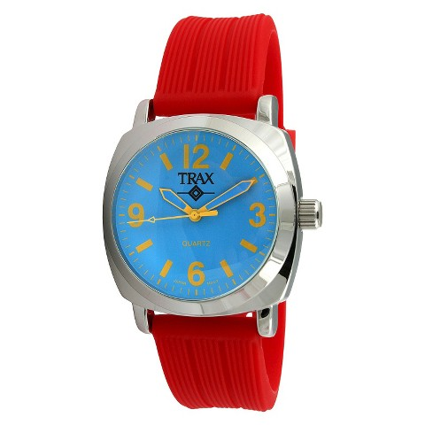 Women's Trax Shelley Blue Dial 40mm Watch - Red