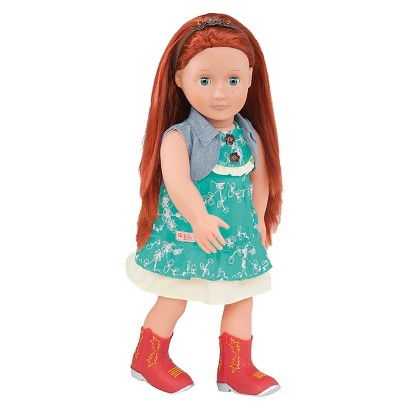 "Our Generation 18"" Doll Outfit - ""Miss Western"" Dress with Cowboy Boots"
