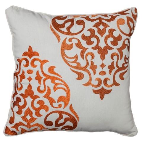 Mudhut™ Hope Medallion Decorative Pillow - Orange