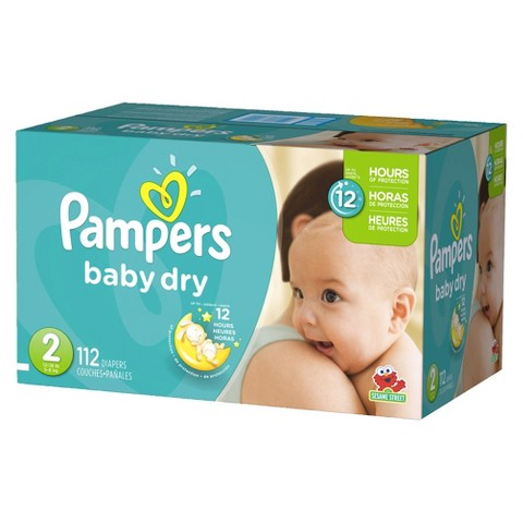 Pampers Baby Dry Diapers Super Pack (Select Size)