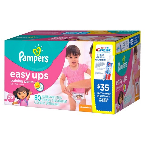 Pampers Easy Ups Girls Training Pants (Select Size)