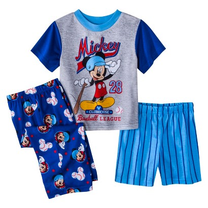 Disney® Mickey Mouse Toddler Boys' 3-Piece Short-Sleeve Pajama Set