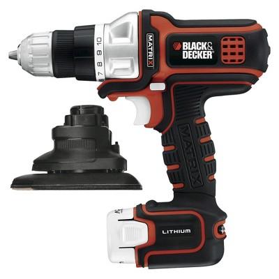 Black & Decker Matrix 12V Maximum Lithium Drill/Driver and Sander Kit