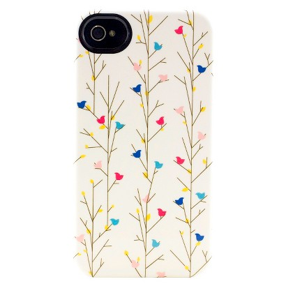 Uncommon Birdie Branches Deflector Cell Phone Case for iPhone 4/4S - Multicolor (C0010-F)