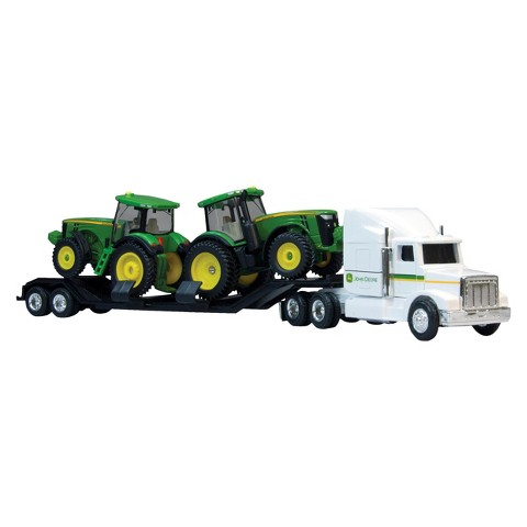 John Deere Semi with 8R Tractor