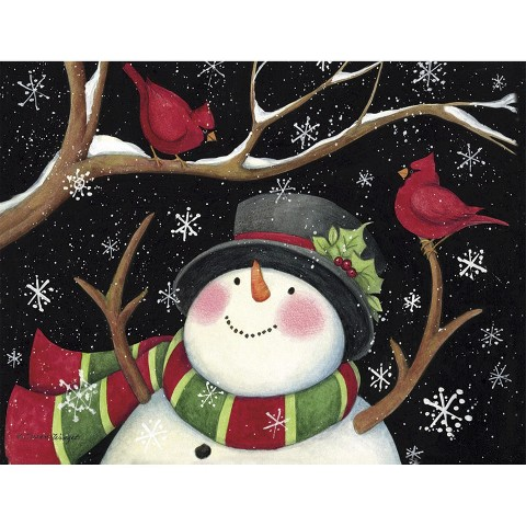 Boxed Holiday Cards Snowman With Cardinals Target