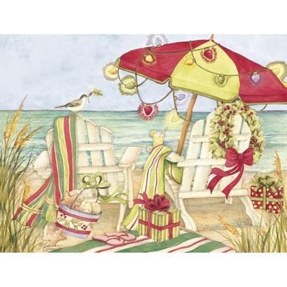 Two Set Christmas Card - A Beachy Christmas