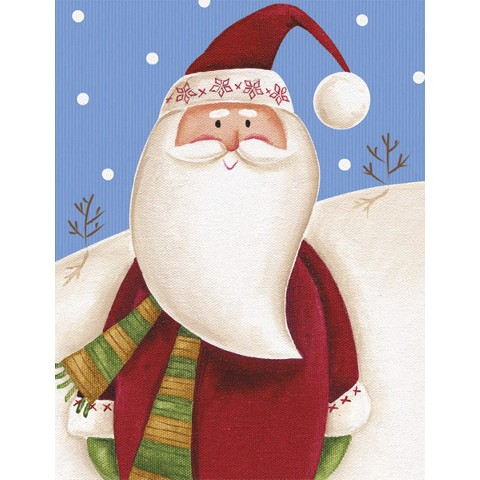 Two Set Christmas Card - Santa And Snowman