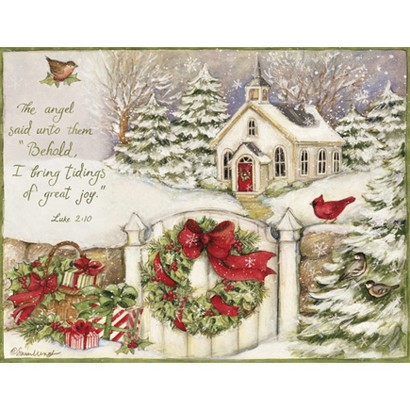 Two Set Christmas Card - Little Church