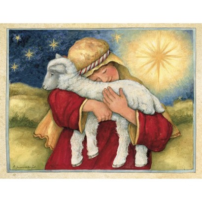 Two Set Christmas Card - The Lord is My Shepherd
