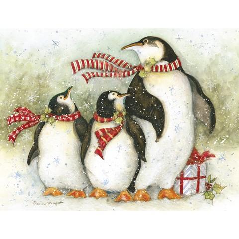 Boxed Christmas Card - Christmas Day Penguins