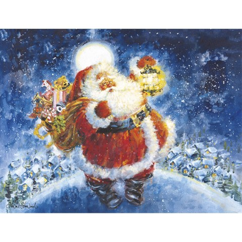 Boxed Christmas Card - Jolly Santa