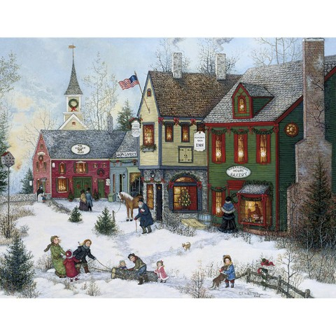 Boxed Christmas Card - Cobblestone Holidays