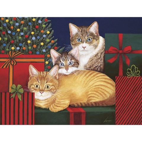 Boxed Christmas Card - Marla, Buster and Edna Williams