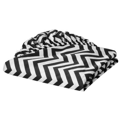 Circo™ Woven Fitted Crib Sheet - Chevron - Black