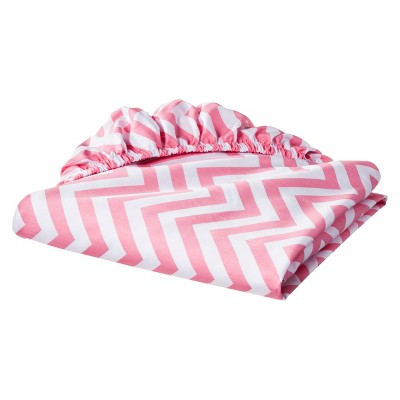 Circo™ Woven Fitted Crib Sheet - Chevron - Coral
