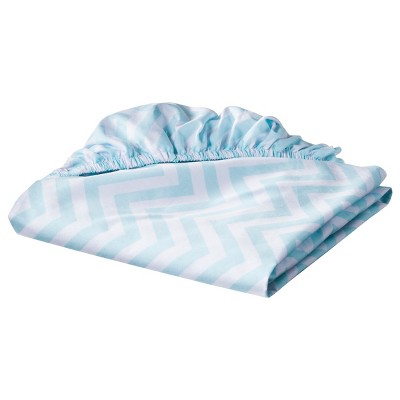 Circo™ Woven Fitted Crib Sheet - Chevron - Aqua