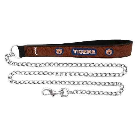 Auburn Tigers Leather Chain Leash