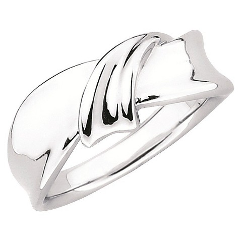 SHE Sterling Silver Dimensional Twisted Knot Ring-Silver