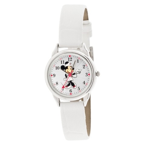Minnie Mouse Analog Watch - White