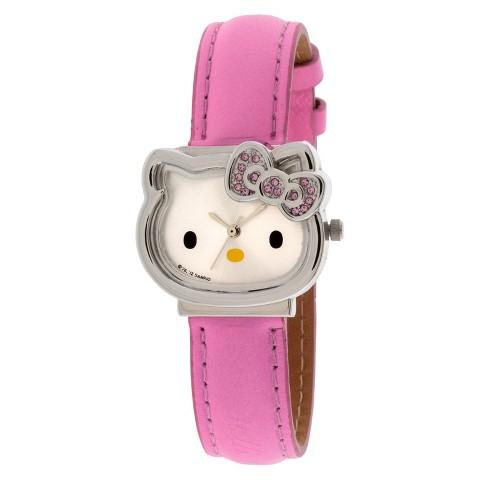 Girl's Hello Kitty Analog Watch - Pink