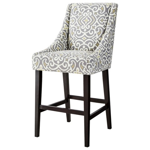 "Griffin Cutback 30"" Barstool - Gray/Citron"