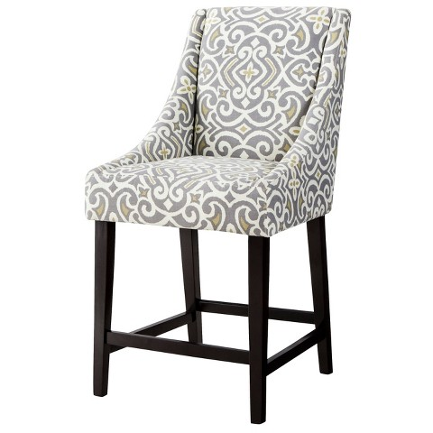 Griffin Cutback 24 Counter Stool Grey Citron Target