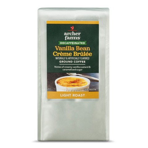 Decaf Vanilla Bean Creme Brulee Light Roast Ground Coffee 12oz ...