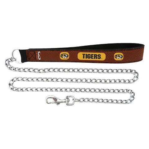 Missouri Tigers Leather Chain Leash