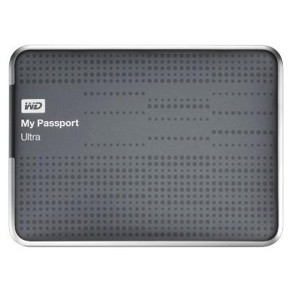 WD 2TB My Passport Ultra Hard Drive - Titanium